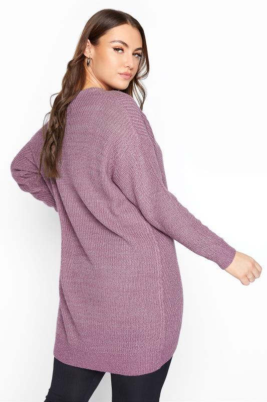 Mauve Purple Chunky Knitted Jumper_C.jpg