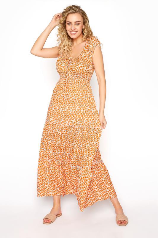 LTS Orange Tiered Shirred Maxi Dress_A.jpg