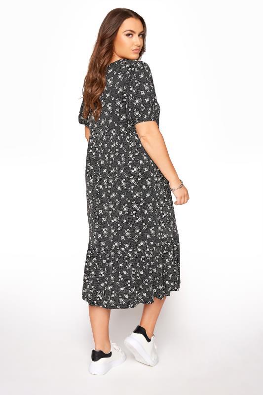Black Floral Frill Hem Midi Dress_C.jpg