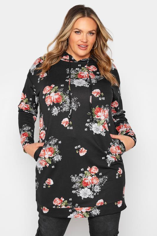 Black Floral Print Hoodie Dress_A.jpg