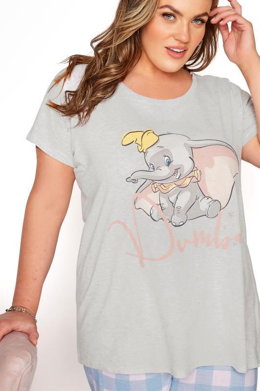 DISNEY Grey Dumbo Check Print Pyjama Set_D.jpg