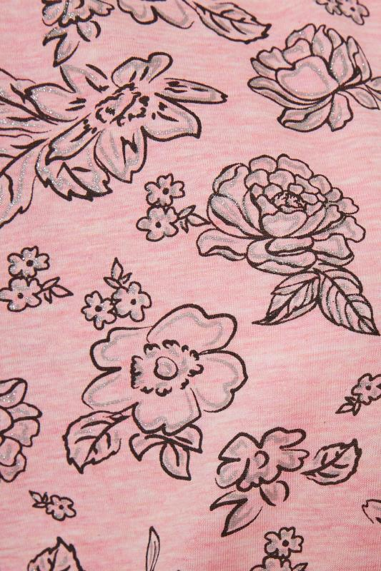 Pink Glitter Floral Nightdress