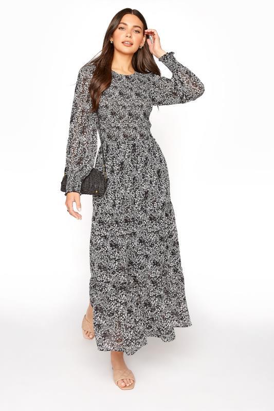 LTS Black Ditsy Long Sleeve Tiered Midi Dress_B.jpg