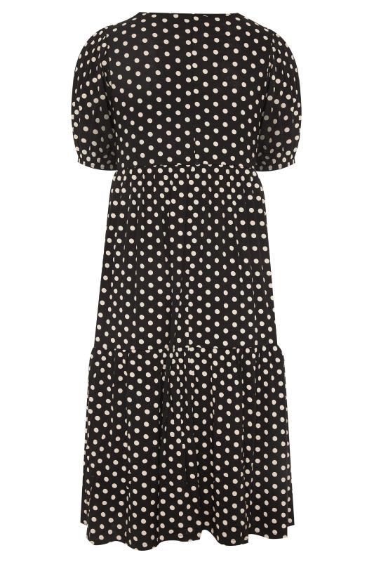 Black Puff Sleeve Polka Dot Midaxi Dress_BK.jpg