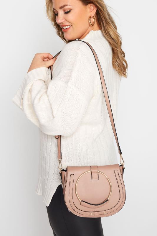 Pink Circle Dual Handle Saddle Bag