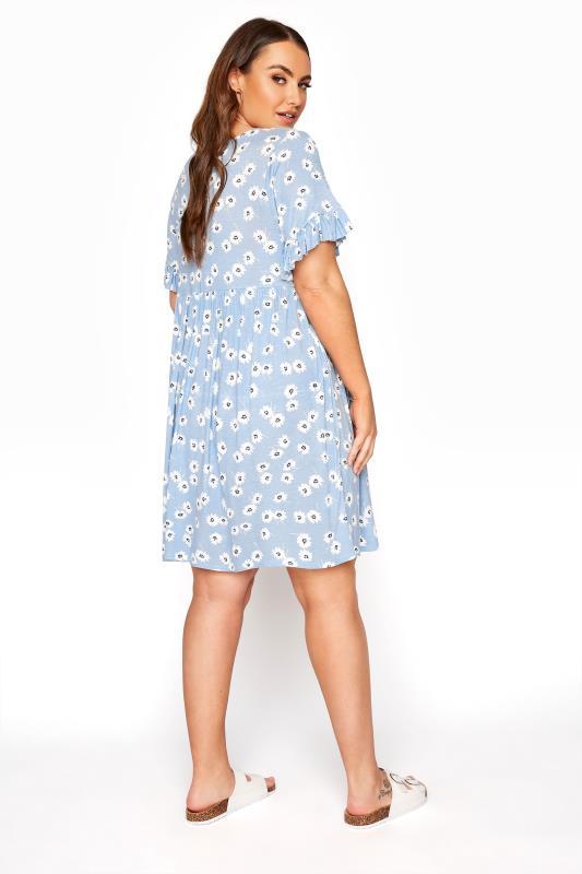 Pastel Blue Floral Frill Sleeve Dress_C.jpg