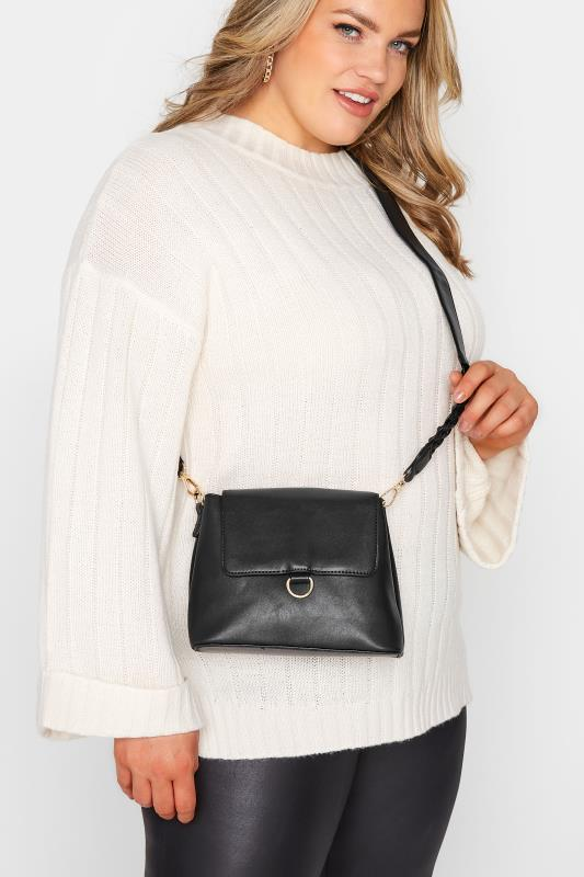 Black Plaited Strap Camera Bag