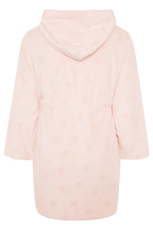 Pink Star Print Zip Dressing Gown
