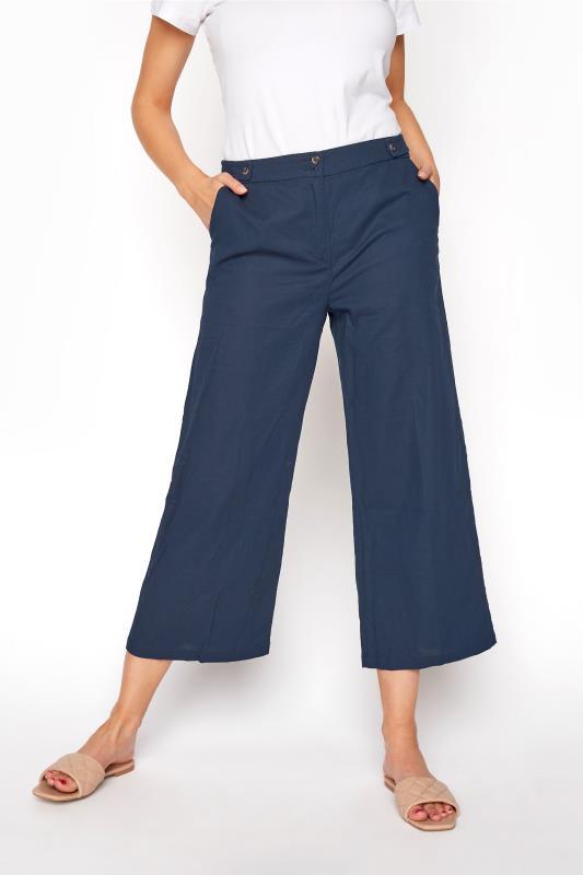 Navy Natural Blend Wide Leg Culottes