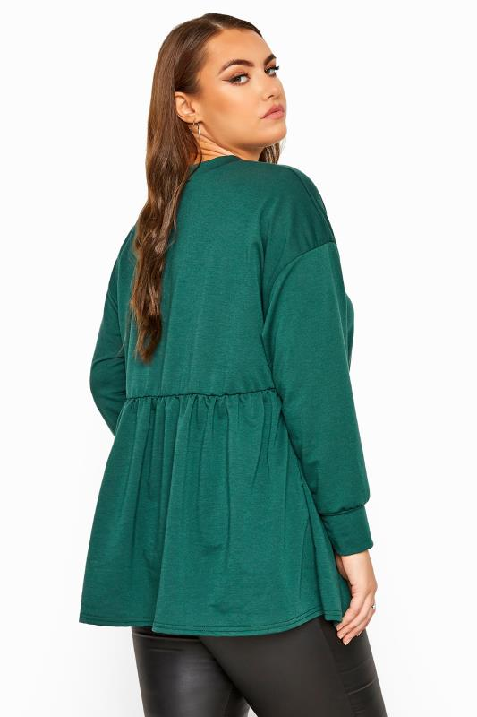 LIMITED COLLECTION Forest Green Peplum Sweatshirt