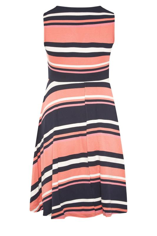 Pink Stripe Wrap Skater Dress_BK.jpg