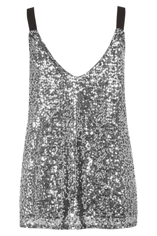 LTS Silver Sequin Cami Top