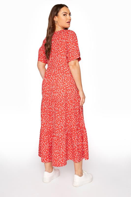 LIMITED COLLECTION Red Daisy Print Tiered Maxi Dress_D.jpg