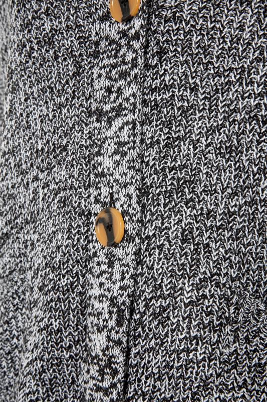 Grey Mono Button Knitted Cardigan_S.jpg