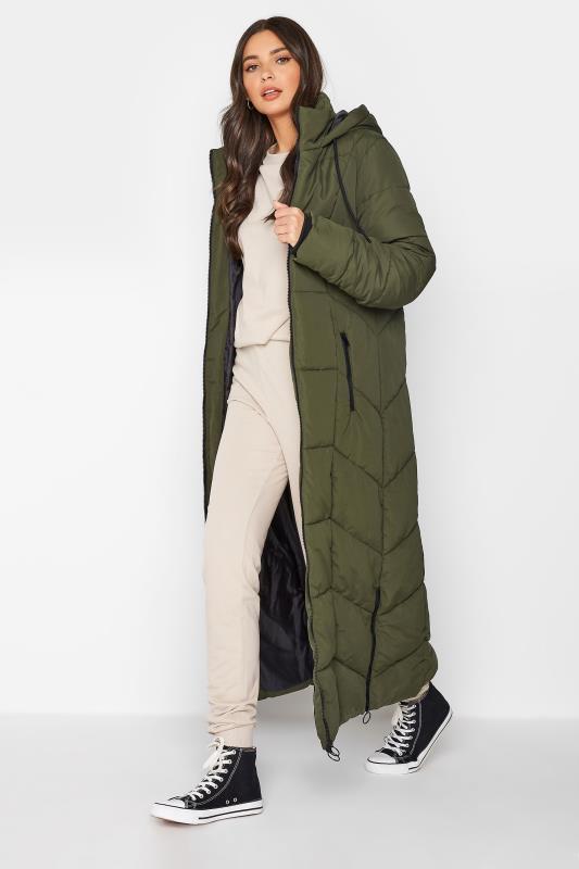 Khaki Longline Puffer Coat_B.jpg