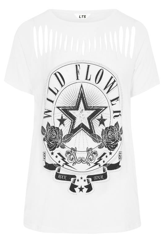LTS White Laser Cut 'Wild Flower' T-Shirt_F.jpg