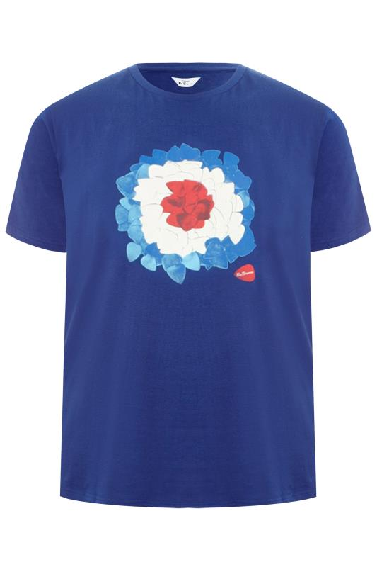 Tallas Grandes BEN SHERMAN Blue Target Graphic Print T-Shirt