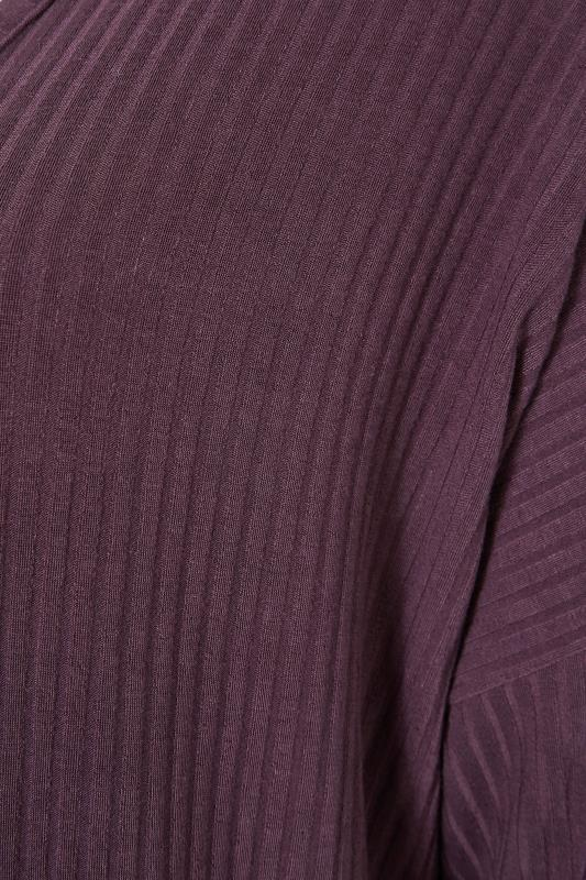 LIMITED COLLECTION Plum Purple Ribbed Longline Cardigan_S.jpg