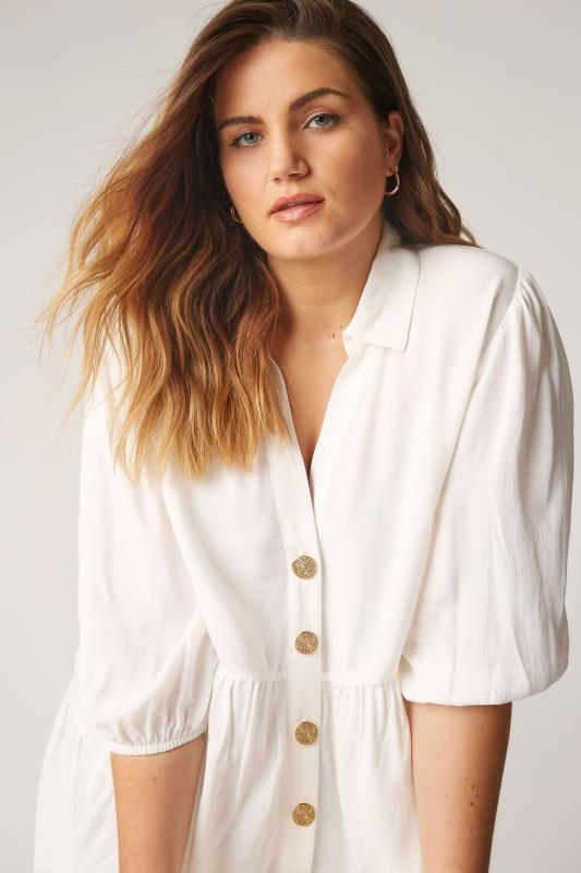 THE LIMITED EDIT White Tiered Smock Tunic Top_D.jpg
