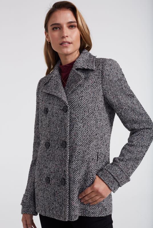 Herringbone Pea Coat