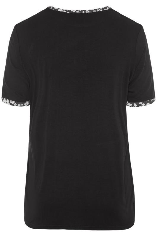 LIMITED COLLECTION Black & Floral Ringer T-Shirt