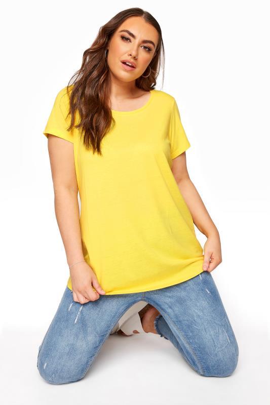 Plus Size  Lemon Yellow T-Shirt
