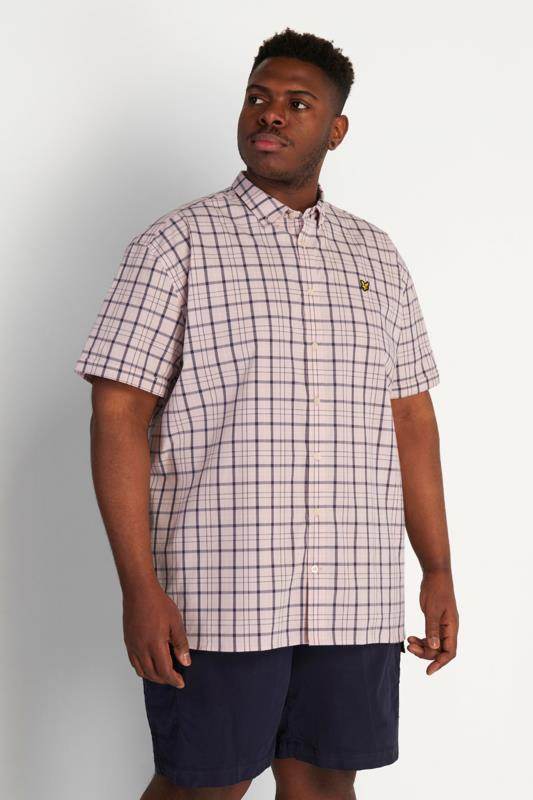 Plus Size  LYLE & SCOTT Pink Check Short Sleeve Shirt