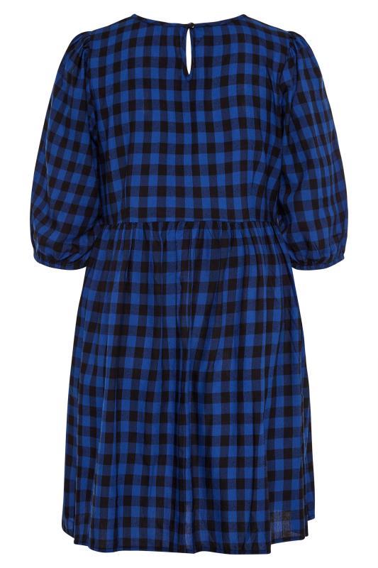 Cobalt Blue Gingham Peplum Dress_BK.jpg