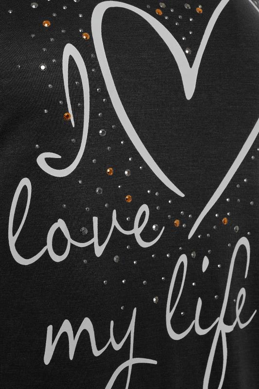 LTS Black 'I Love My Life' Ruched Side Tunic_D.jpg