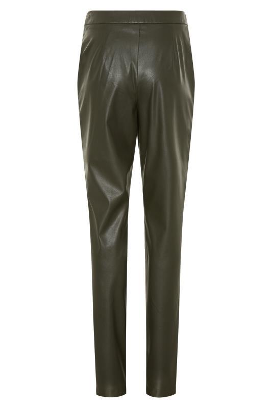 LTS Khaki Faux Leather Slim Leg Trousers_BK.jpg