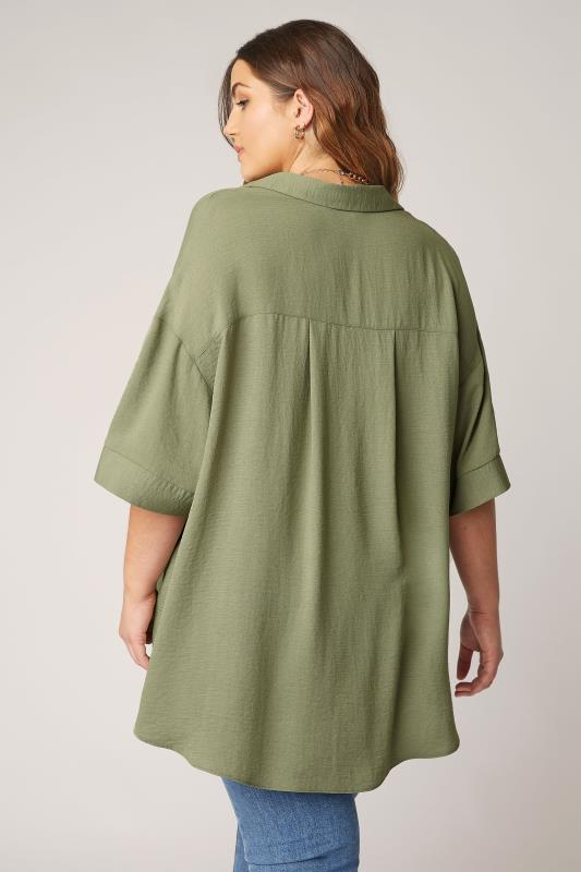 THE LIMITED EDIT Olive Green Pleated Front Top_C.jpg
