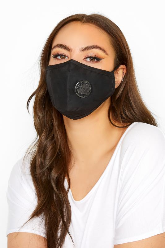 Plus Size  Black Filtered Face Mask