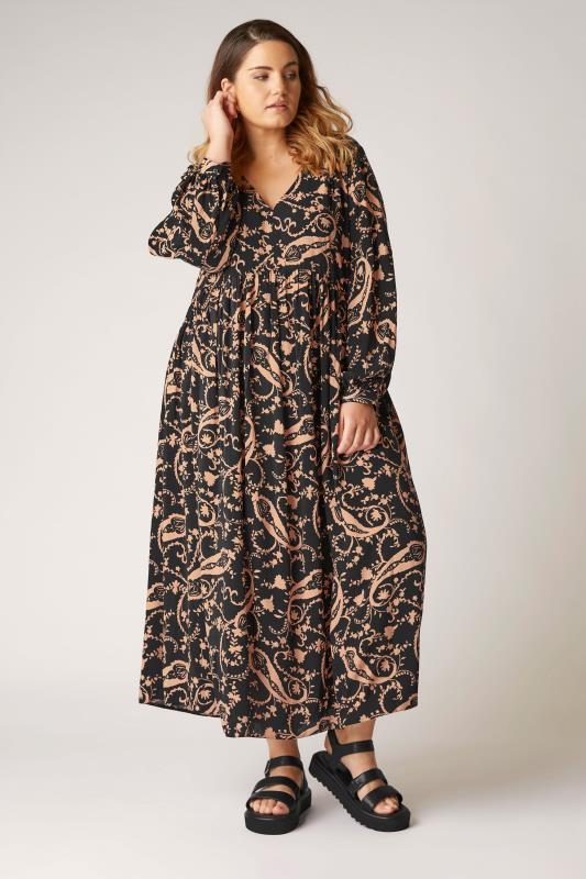 THE LIMITED EDIT Black Paisley Boho Maxi Dress_A.jpg