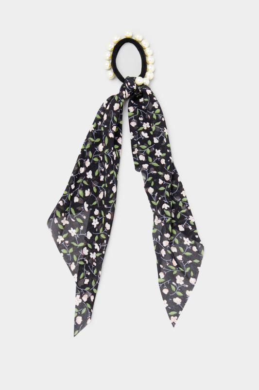 2 PACK Black Pearl Trim Long Scrunchies_A.jpg
