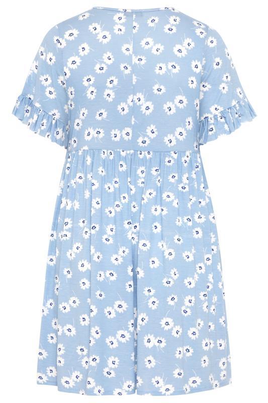 Pastel Blue Floral Frill Sleeve Dress_BK.jpg