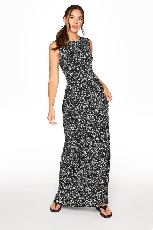 Tall  LTS Black Floral Maxi Dress