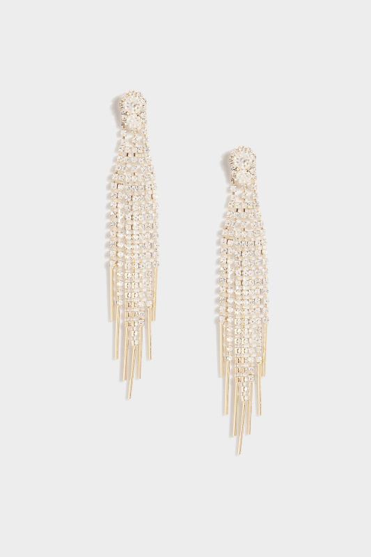 Gold Diamante Tassel Long Earrings_A.jpg