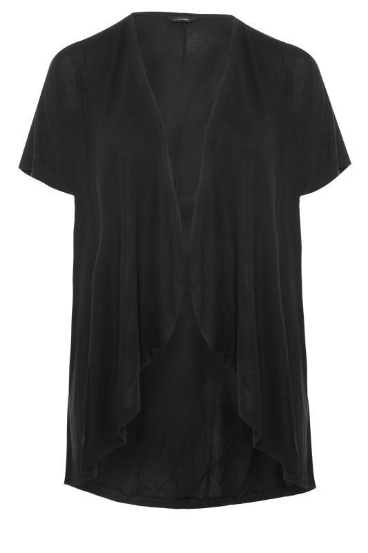 Plus Size  Black Waterfall Cardigan
