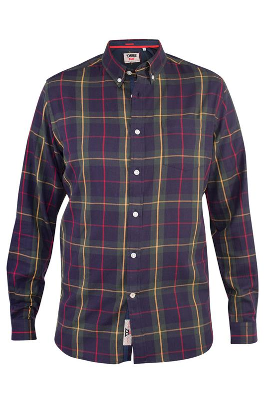 Men's Casual / Every Day D555 Navy Gladstone Check Shirt