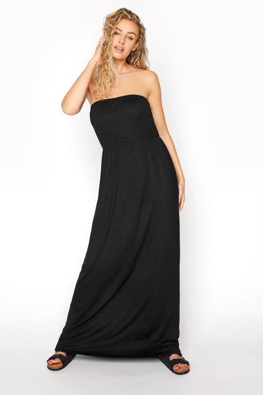 LTS Black Strapless Maxi Dress