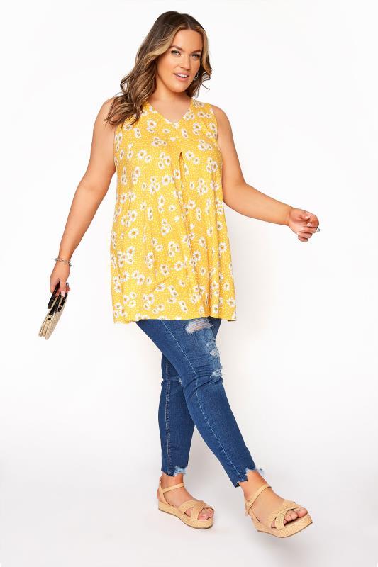 Yellow Daisy Swing Vest