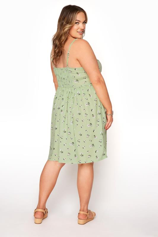 Green Ditsy Floral Strappy Dress_C.jpg