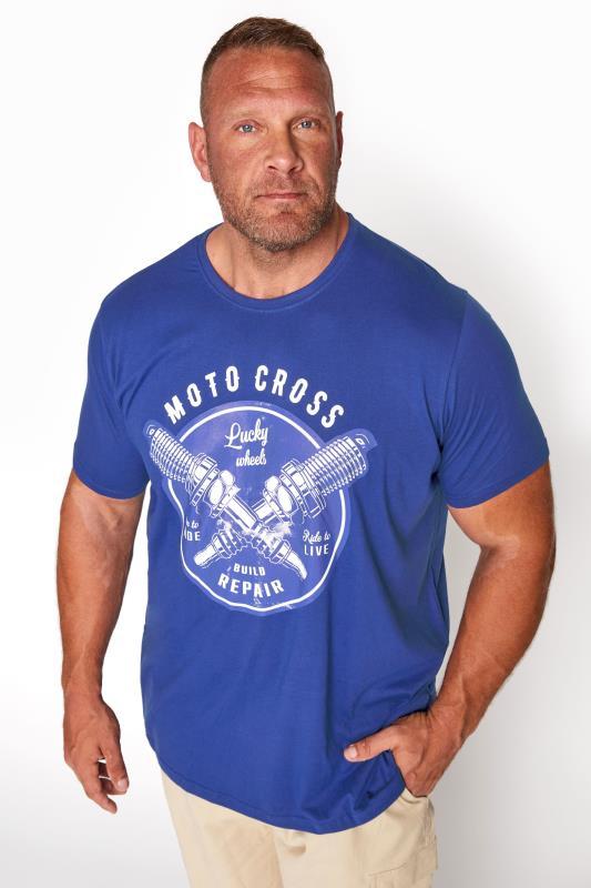 BadRhino Royal Blue Motorcross Graphic Print T-Shirt_A.jpg