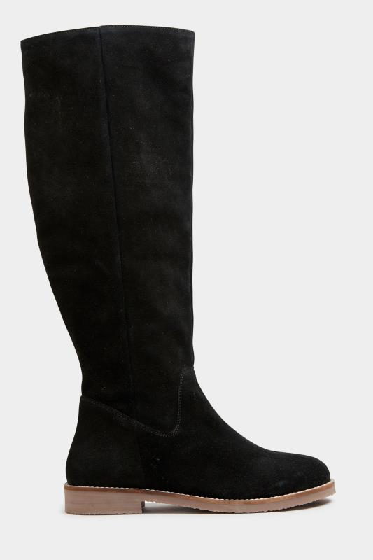 Tall  LTS Black Suede Knee High Boots