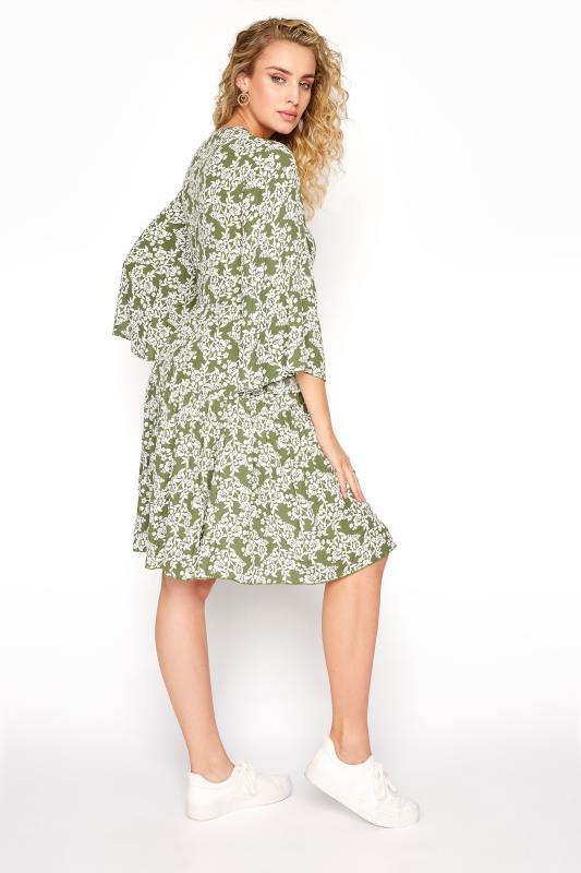 LTS Khaki Floral Crochet Tie Front Tunic_C.jpg