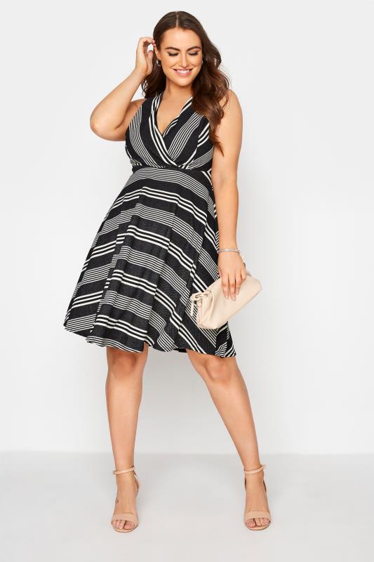 Black Stripe Wrap Skater Dress_B.jpg