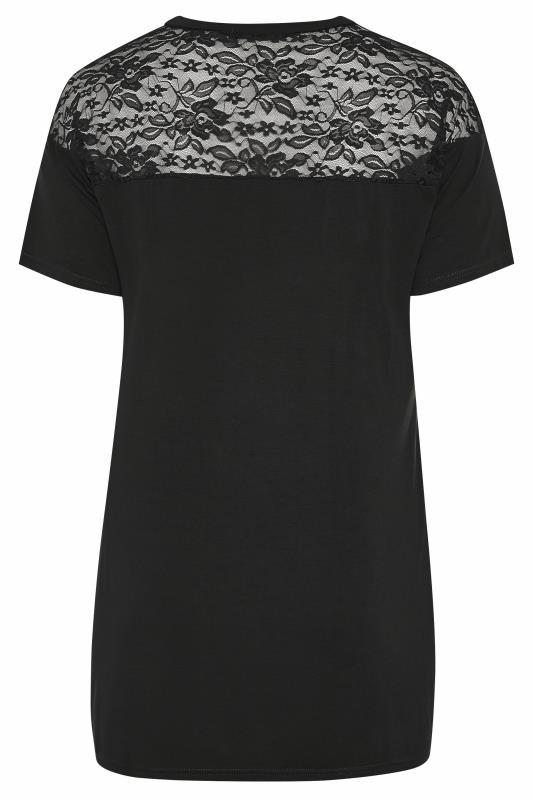 LIMITED COLLECTION Black Lace Yoke T-Shirt_BK.jpg