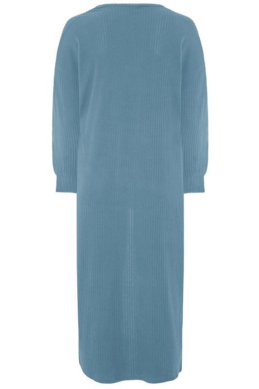 LIMITED COLLECTION Denim Blue Long Cardigan_BK.jpg