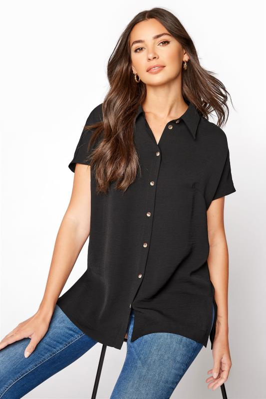 LTS Black Button Through Shirt