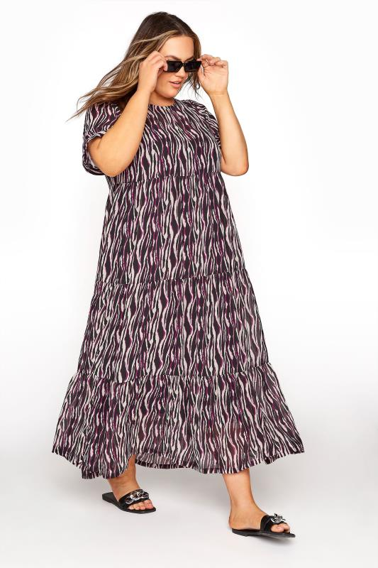 LIMITED COLLECTION Black Zebra Print Tiered Maxi Dress_B.jpg